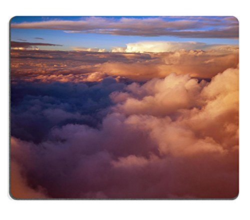 Luxlady Gaming Mousepad IMAGE ID: 34823758 view colored clouds from an airplane at dawn