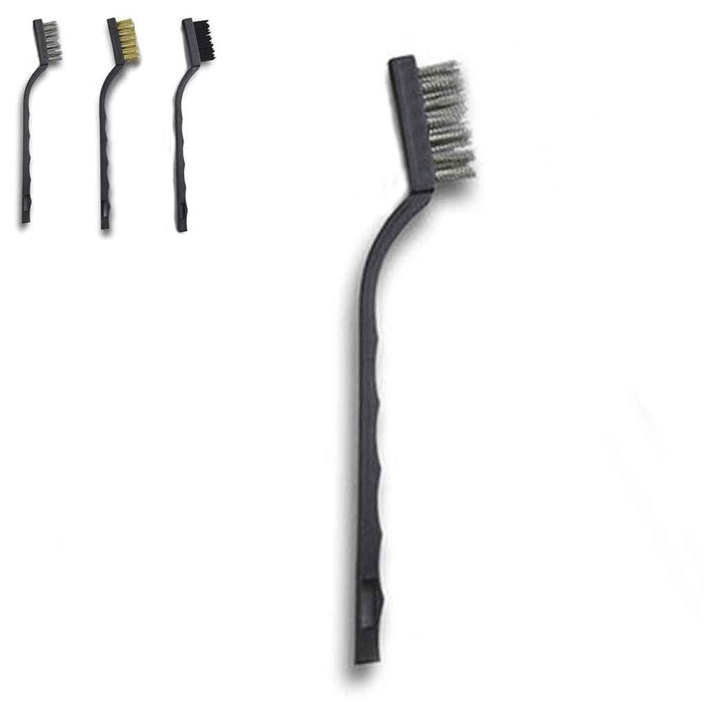 shangjunol 2pc 7 Pollici Mini Pulizia decalcificazione Industriale in Acciaio Inox Nylon spazzole Metalliche