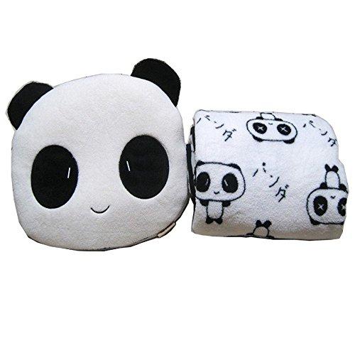 niceEshop Cute Panda Velvet Plush Coral Fleece Throw Pillow