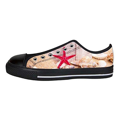 Alto I Ginnastica Delle Tetto Canvas Shoes Spiaggia Custom Stelle Marine Scarpe Women's Lacci Da 057UOPx