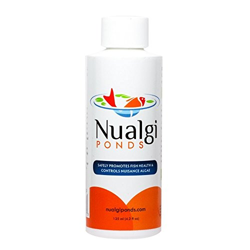 Nualgi Ponds - Natural Algae Control, Water Clarifier & Best Algaecide Alternate - 100% Safe for All Fish, Plants & Animals (1 x 125ml) by Nualgi Ponds