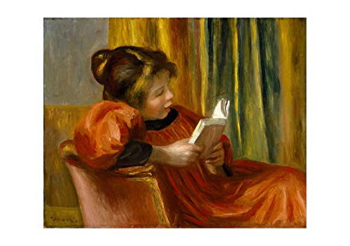 Spiffing Prints Pierre Auguste Renoir - Girl Reading a Book - Small - Semi Gloss - -