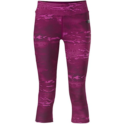 Print North The Jersey Face - The North Face Women's Pulse Capri Tight Parlour Purple Print LG R