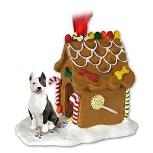 Pitt Bull Dogs Gingerbread House Christmas Ornament
