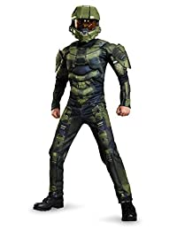Disguise Costumes Master Chief Classic Muscle Costume, Medium (7-8), One Color