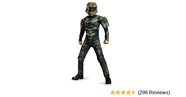 amazoncom master chief classic muscle costume small 4 6 disguise toys games