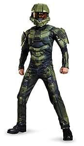 Master Chief Classic Muscle Costume, Medium (7-8)