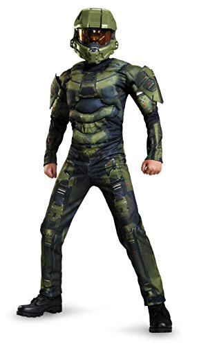 Classic Kid Costumes (Master Chief Classic Muscle Costume, Large (10-12))
