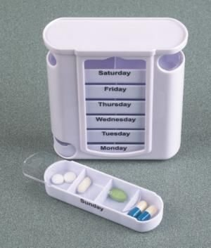 Captivating Stacking Pill Box Vertical Pill Dispenser Organizes Daily Medication