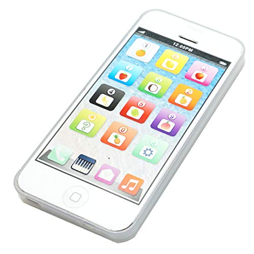 Cooplay White 1:1 Music Phone Toy Yphone Y-Phone Animal Play Cell Phone Learning English Educational Mobile Study Best Gift Prize for Baby Kids Children