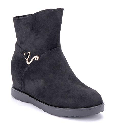 Boots cm Schwarz Stiefeletten Damen Keilstiefeletten Keilabsatz Schuhe Schuhtempel24 7 Stiefel wFXvz8Axq