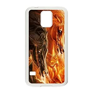 SamSung Galaxy S5 phone cases White Horse fashion cell phone cases UYIT2283021