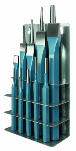 Peddinghaus Werkzeugsatz 6633120000 14-teilig 1 Körner 3x125mm, 4 Splintentreiber 2/3/5/6mm, 4 Durchschläger, 5 Flachmeißel
