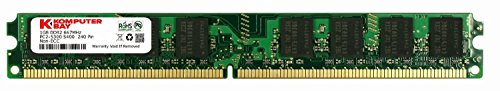 KOMPUTERBAY 1GB (1X 1GB) DDR2 667MHz PC2-5300 PC2-5400 (240 PIN) DIMM Desktop Memory with Samsung Semiconductors