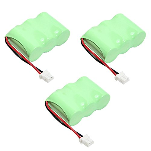 Masione 400mah BT-17333 Batteries for Vtech Cordless Phone BT163345 BT263345 CS2111 CS5111 Ni-Cd Battery AT&T: 01839 24112 4128 (3-Pack)