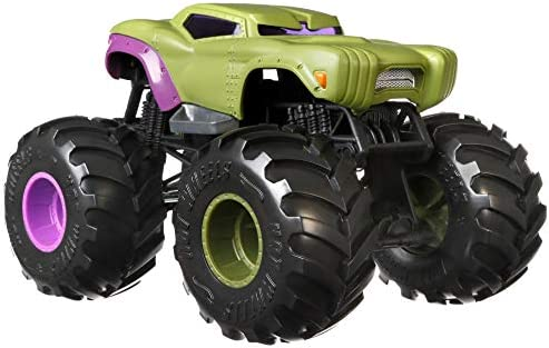 Hot Wheels Monster Trucks 1 24 Vehicle Marvel Hulk Amazon Co Uk Toys Games