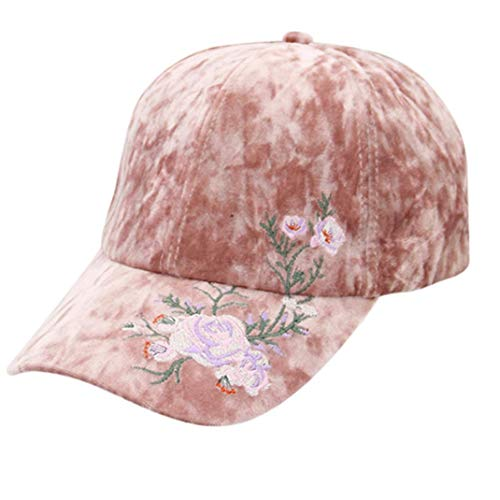 JPOQW Men's and Women's Winter Hat Suede Embroidery Cotton Vintage Adjustable Baseball Cap