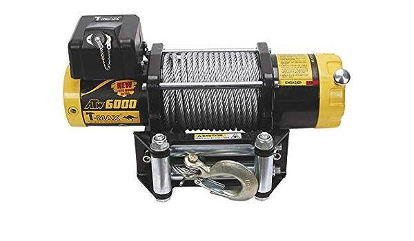 T-MAX Cabestrante ATW-6000lbs 12V de 2720kg cable de acero ...