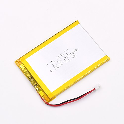 3.7V 2500mAh 385677 Lipo battery Rechargeable Lithium Polymer ion Battery Pack with JST Connector