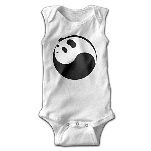 (Yinyang Panda Newborn Infant Baby Sleeveless Bodysuit Romper Jumpsuits Playsuit)