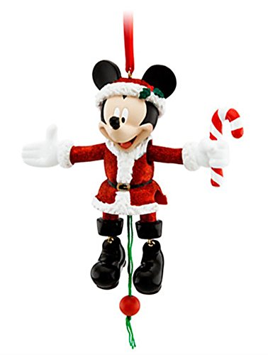 Articulated Figural - DISNEY PARKS EXCLUSIVE : Santa Mickey Christmas Hanging Ornament : Movable Arms & Legs