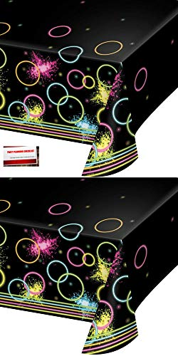Glow Party Blacklight Plastic Table Covers Pack of