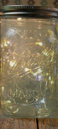 Fairy Lightss Led Ball Mason Pint 16 Ounce Jar Regular Mouth Firefly (Cream)