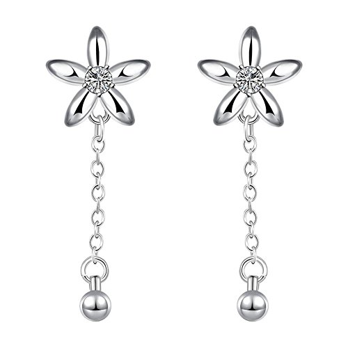 Western Style Earrings Five-petal Flowers Ladies Earrings