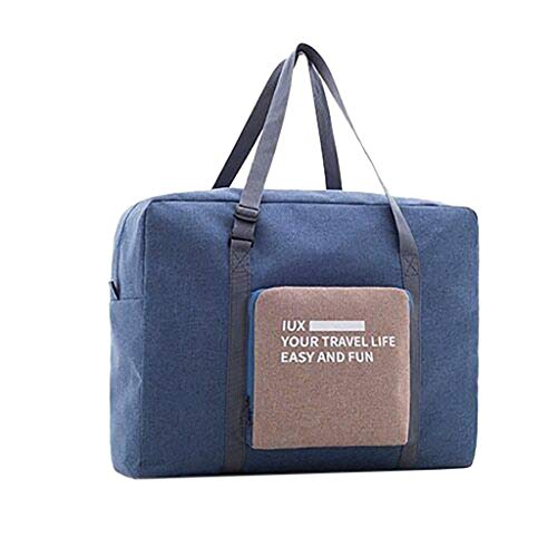 Large Travel Duffel Bag for Women Men Foldable Lightweight Weekender Bag, Heavy Duty Waterproof Luggage Bag