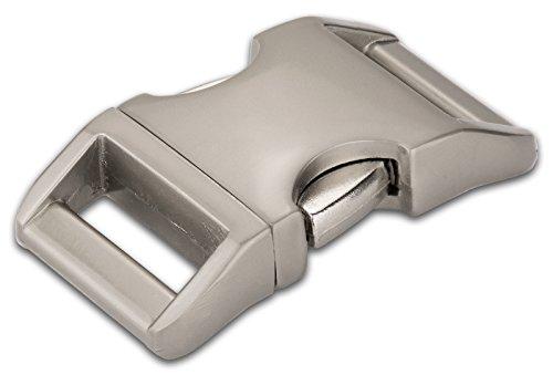 50-1 Inch Satin Contoured Aluminum Side Release Buckles