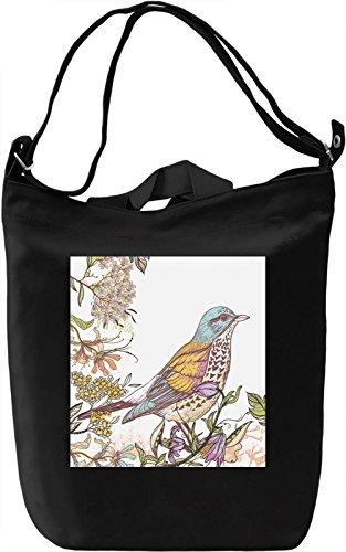 Bird on a Tree Print Borsa Giornaliera Canvas Canvas Day Bag  100% Premium Cotton Canvas  DTG Printing 