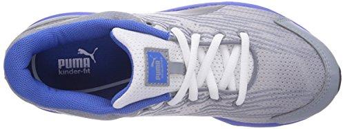 Puma Sequence Jr - zapatillas deportivas de material sintético infantil gris - Grau (01 tradewinds-strong blue)