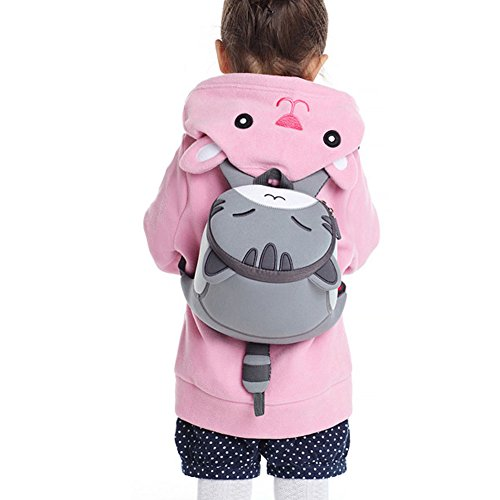 Toddler Children Bag Grey 3D Animal Cute Waterproof Backpack School Alnaue Preschool Kids Cat ZnUqOfO