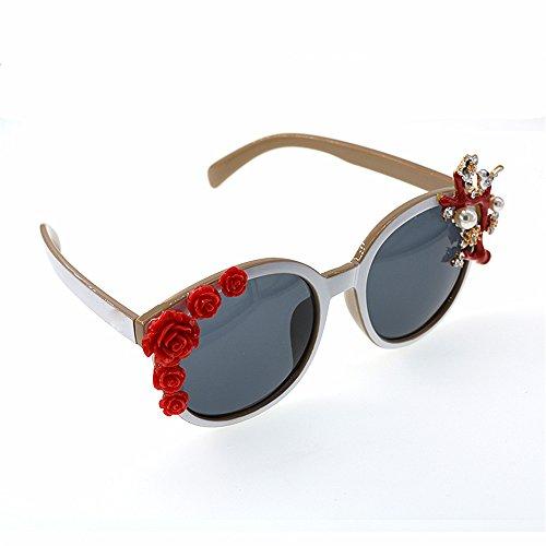 la hechas la flor las de del Gafas Gafas para barroca mano estilo mujeres de moda decoración polarizadas sol Tonos a de de pájaro de d Gafas sol sol de playa la moda de Gafas de del la demostración de wY6PAqPU