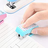 Stationery Deli Geometry Stapler Colorful Fashion Stapler School Office Supplies Small, 4.9 * 2.2cm, Random Color Delivery