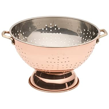 Old Dutch 9-Inch Pedestal Colander, Copper