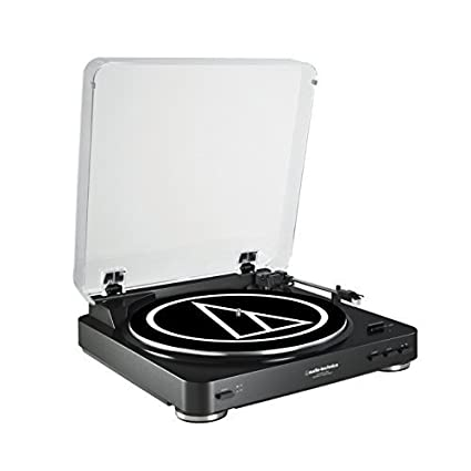 Audio Technica AT-LP60BK-USB Fully Automatic Belt-Drive Stereo ...