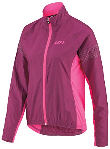 (Louis Garneau Women's Modesto 3 Windproof, Breathable, Lightweight Bike Jacket, Magenta Purple,)