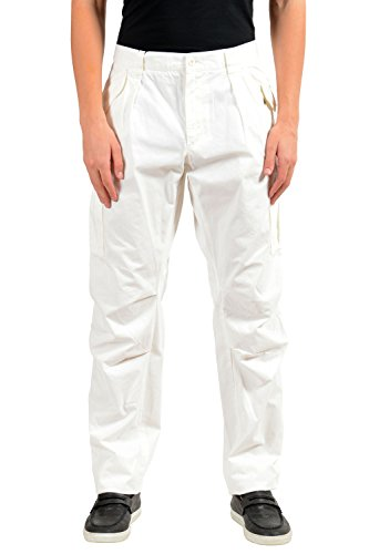 Dolce & Gabbana Men's White Cargo Casual Pants US 34 IT 50 Dolce & Gabbana Mens Clothing