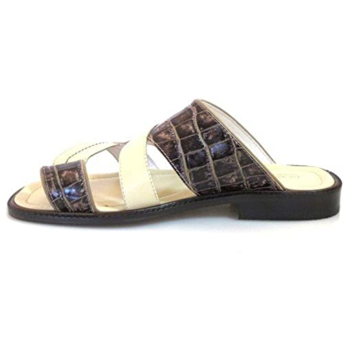Women's Davinci Low Heel Knee High Italian Leather Boots BY