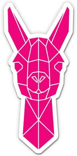 Vinyl Sticker Waterproof Decal GT Graphics Llama Geometric Pink