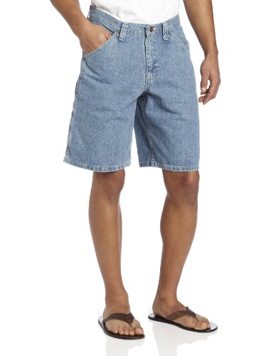 Mens Denim Dungarees (Lee Men's Carpenter Jean Short, Retro Stone, 38)