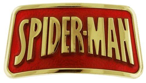 Jewel M Spider-Man Logo Belt Buckle, Gold