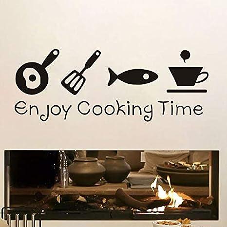 wukongsun Pegatinas de Pared para Disfrutar del Tiempo de cocción ...