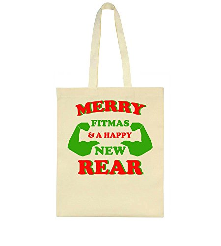 Bag Rear Fitmas Muscular A And Design Two Idcommerce Happy New Arms Tote n6ZxqTP
