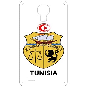 Tunisia - Country Coat Of Arms Flag Emblem White Samsung Galaxy S4 i9500 Cell Phone Case - Cover