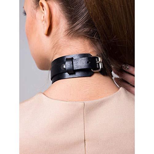 Black Choker Necklace Punk Goth Choker Gothic PU Leather O-Ring Choker for Girls Women Cool