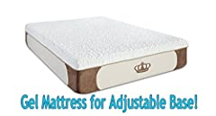 "Introducing the NEW Cool-Breeze 12-inch Gel Memory Foam Mattress for Adjustable Bases taking memory foam comfort to the next generation! Made with 4-layer construction: 3"" High Density Gel memory foam, 4"" state of the art cool air flow foam s..."