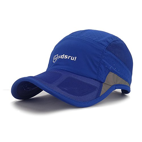 (LETHMIK Reflective Running Sports Cap Unisex Summer Quick Dry Outdoor Performance Hat Sky)