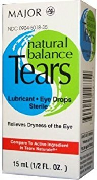 [3 PACK] NATURAL BALANCE TEARS® STERILE LUBRICATING EYE DROPS 15ML *COMPARE TO THE SAME ACTIVE INGREDIENTS IN TEARS NATURALE® & SAVE!!* - Natural Tears Eye Drops